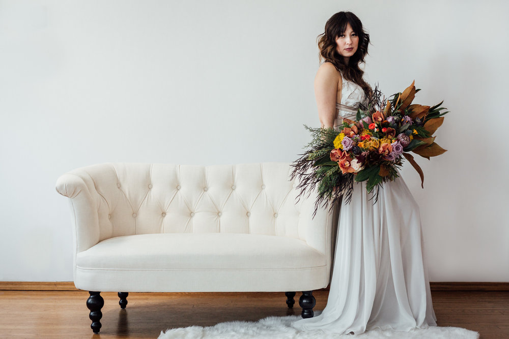 Alaskan bride studio shoot
