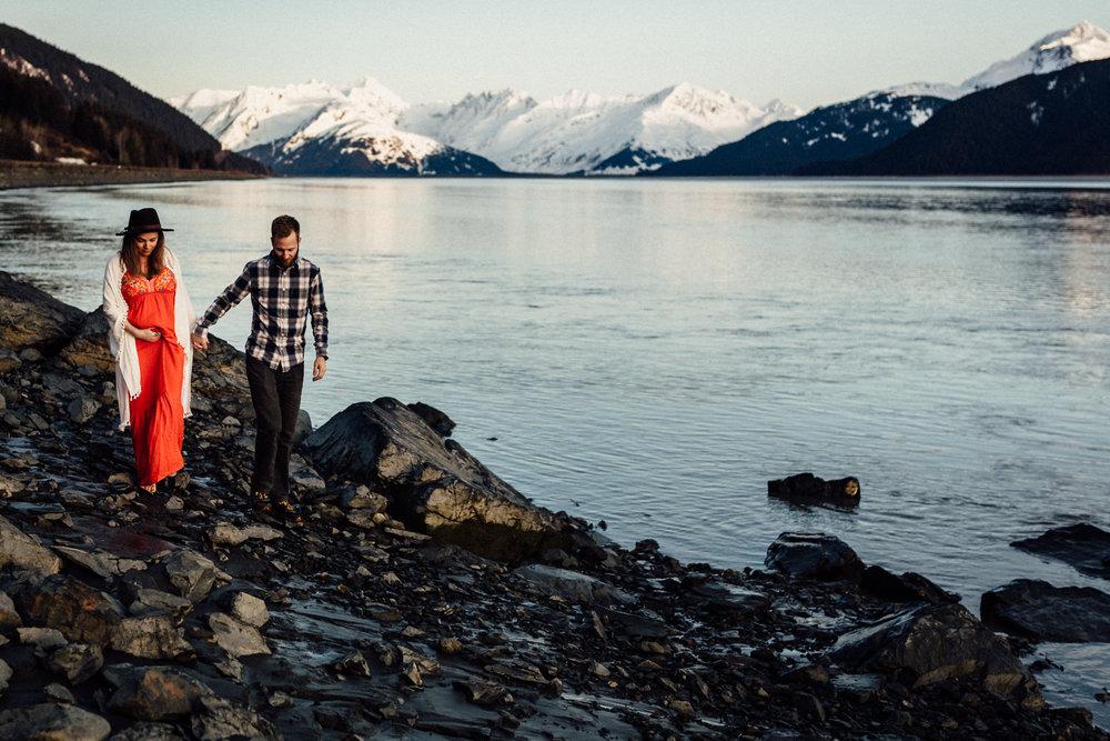 Alaskan babymoon on Kenai Peninsula