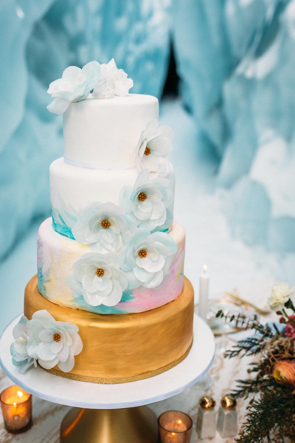 Wedding cake by Midnight Sun Cakery