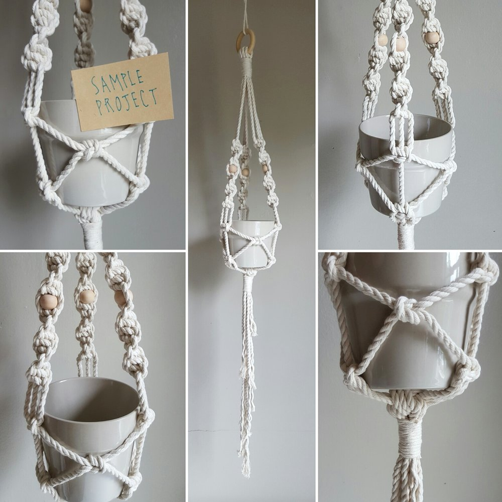 Learn to make macrame plant hangers - macrame classes and workshops in Vancouver and Victoria BC with Lucy Poskitt