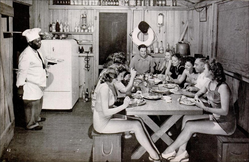 Dinner at Stiltsville's Quarterdeck Club, photo from LIFE MAGAZINE, 1941