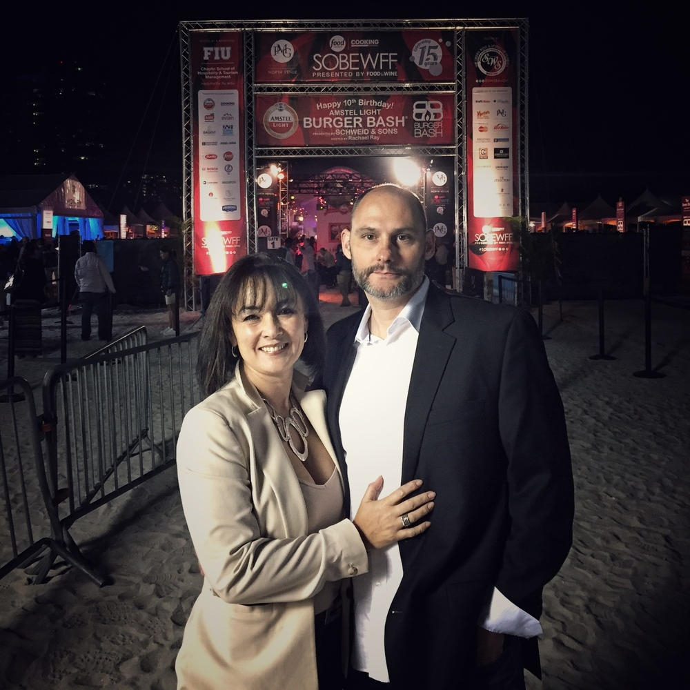 Chef Michael Finizia and his wife, Charity, at the 2016 South Beach Wine & Food Fesitval