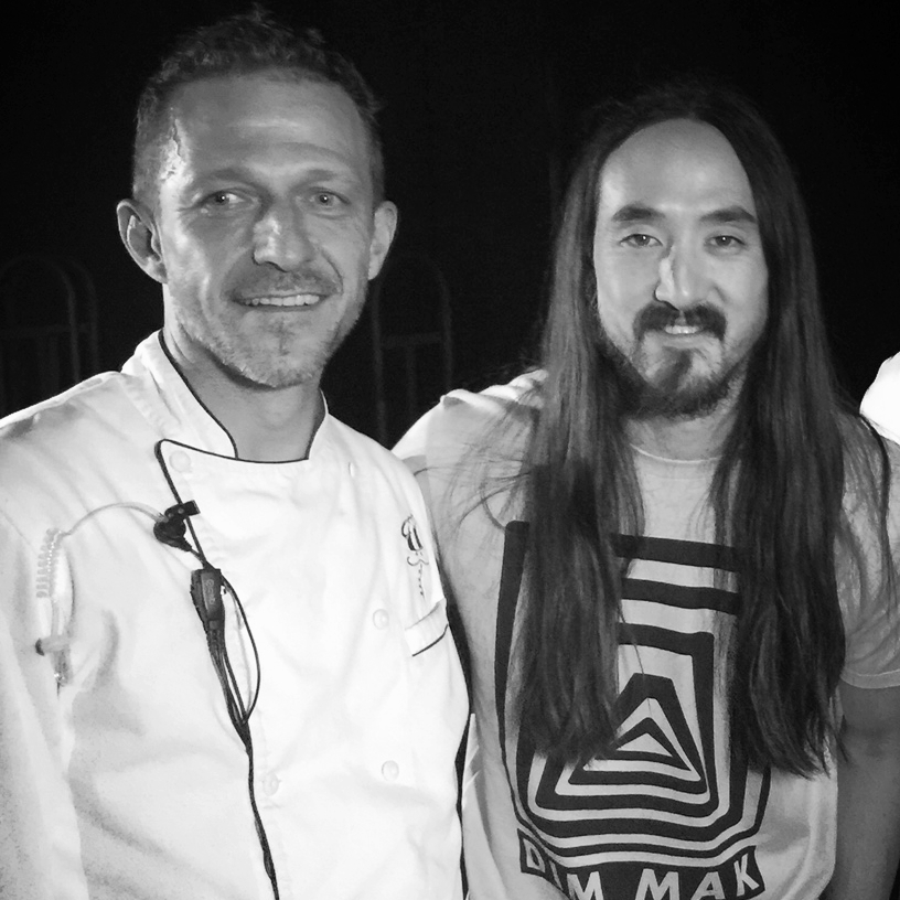 Vincent and Steve Aoki at the Best Buddies Gala