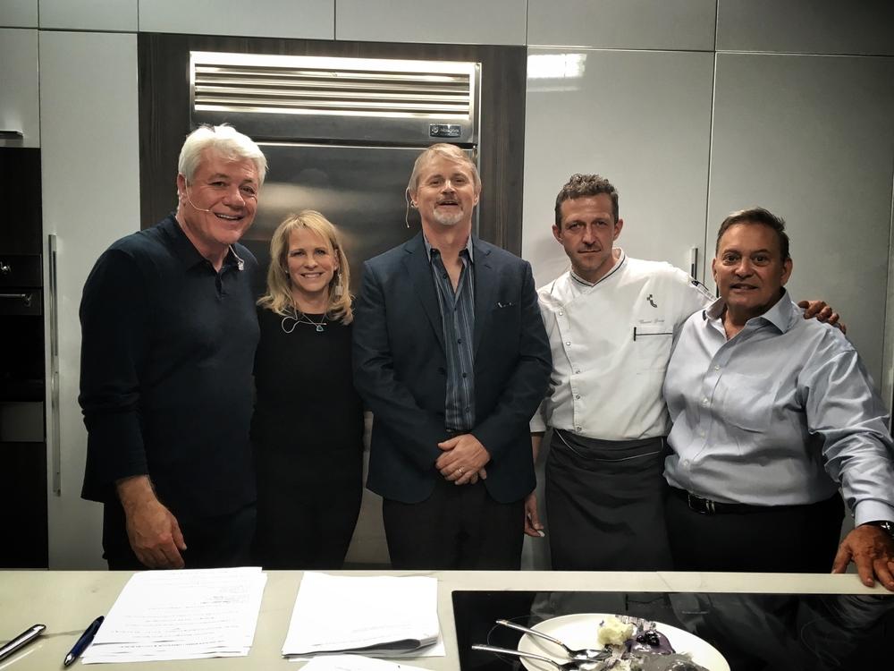 Jimmy Cefalo, Brenda Bassett, Thierry Isambert, Chef Vincent Gourmet, David Johnson