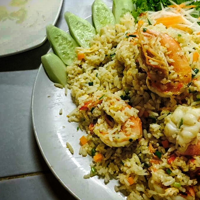 Shrimp Fried Rice, Thai Style - Puthamonthon, Thailand