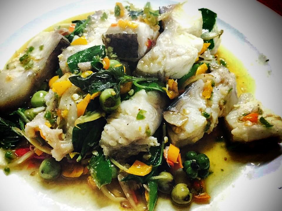 Pad Chaa (Fish Stir-Fry) - In Puthamonthon