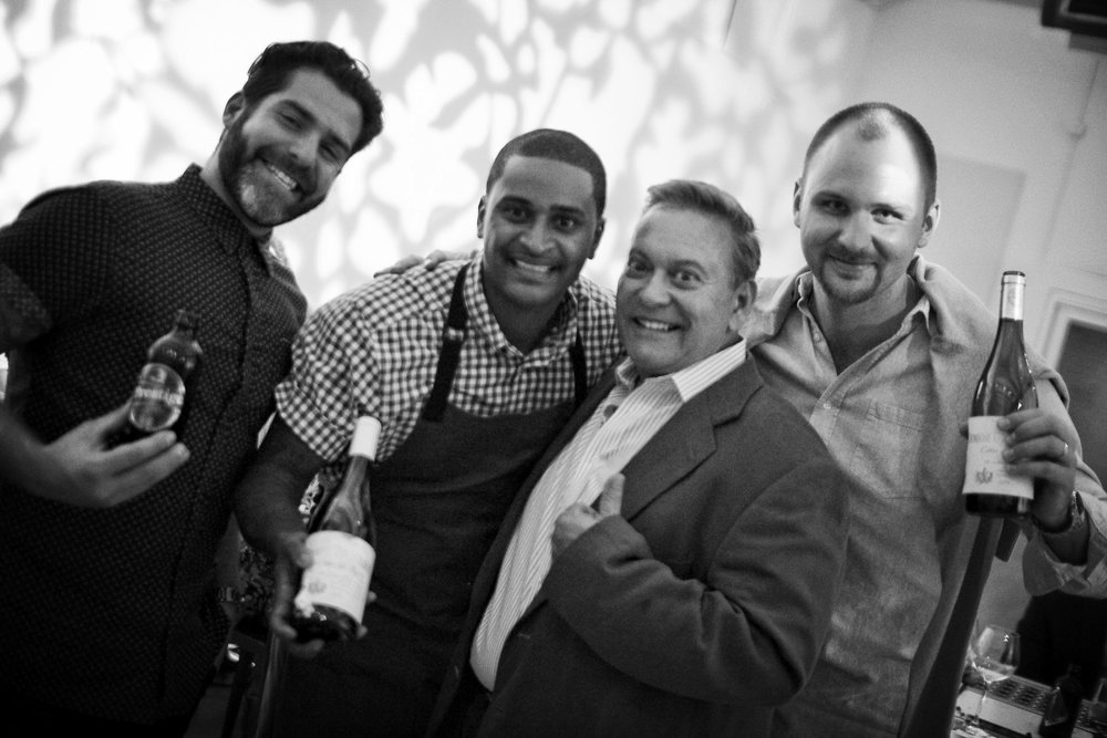 Chef JJ with Team Thierry: Peter Key, David Johnson & Alex Lipin