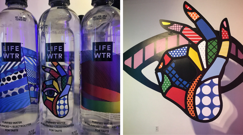 PEPSI rolled out their new brand, LIFE WATER during an Art Basel event celebrating both the brand and the artist commissioned to design the hip new bottles!  Below: Private dinner in the penthouse of the Edition Hotel.