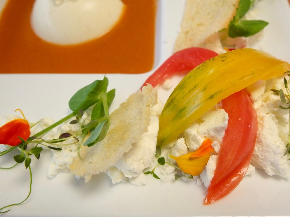 Vegetarian Appetizer: Heirloom Tomato Gazpacho