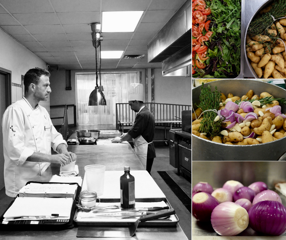 Executive Chef, Vincent Gourmet, oversees operations at the commissary.
