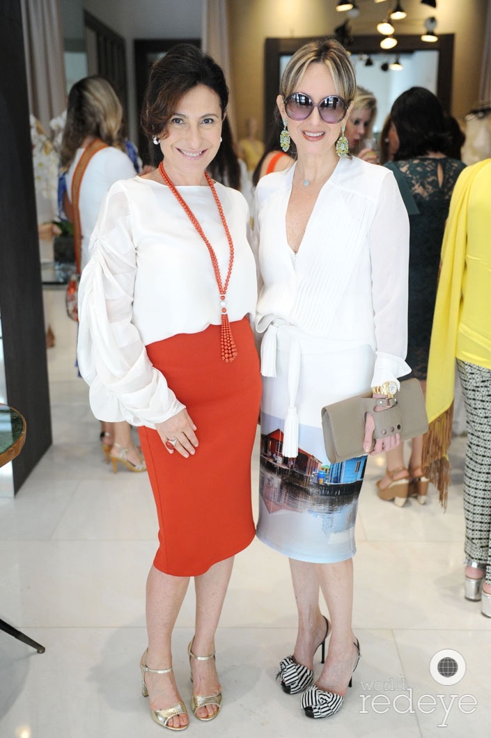 Silvia Tcherassi with Chantecler Jewelry founding family member and designer, Maria Elena Aprea