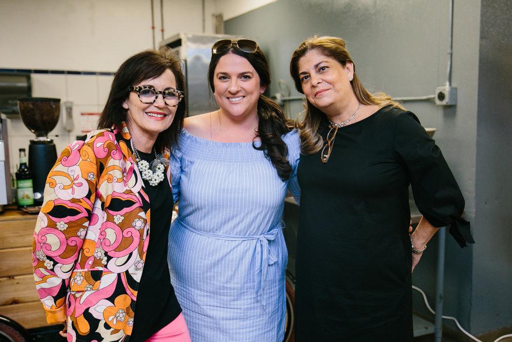 Caron Cole; Jennifer Johnson from JJ Events and Alina Isambert