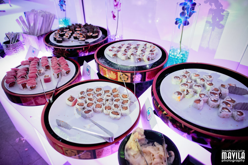 The teen cocktail stations included the Sushi Bar which stayed open all evening.