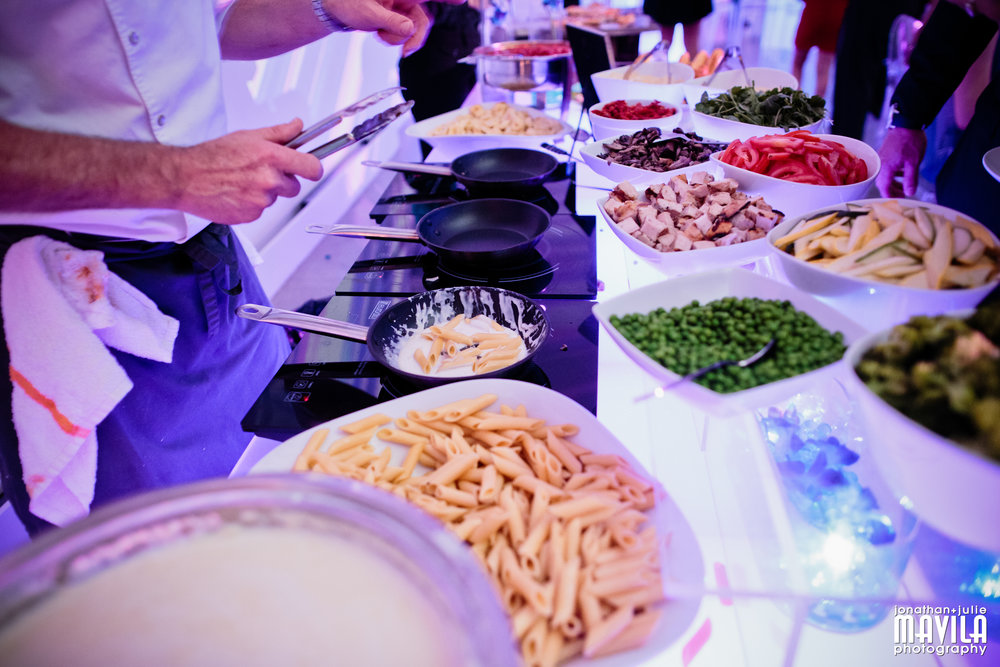 Little Italy Station: Pasta Bar - Pasta with assorted homemade sauces, Pizza station and Caprese Salads