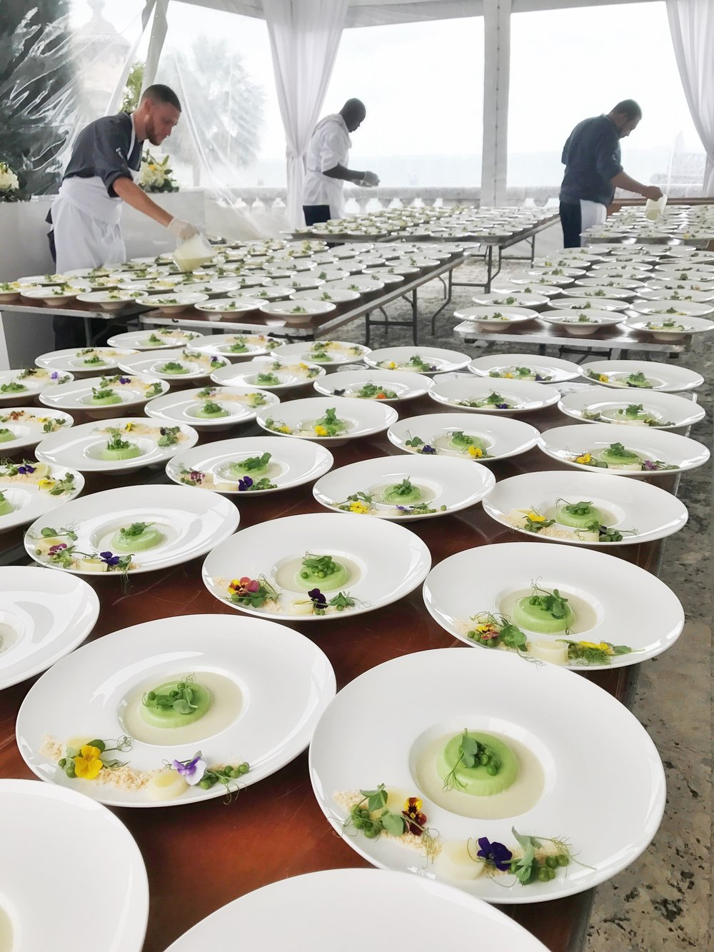 - Behind the scenes: Team T.I. prepping 200 vegan leek & potato soups for a charitable luncheon.