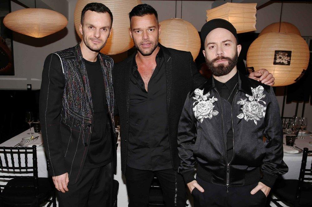 Kris Van Assche; Ricky Martin; Woodkid (Photo: Saskia Lawaks)