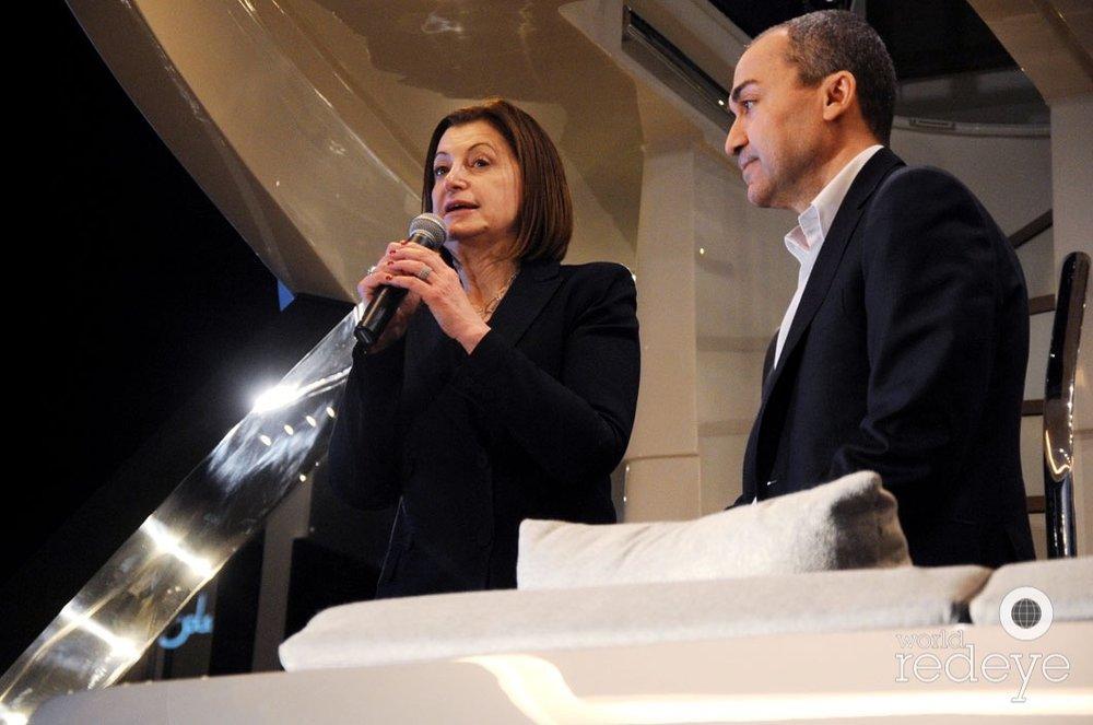 Carla Demaria, President of Monte Carlo Yachts; Fabrizio Iarerra