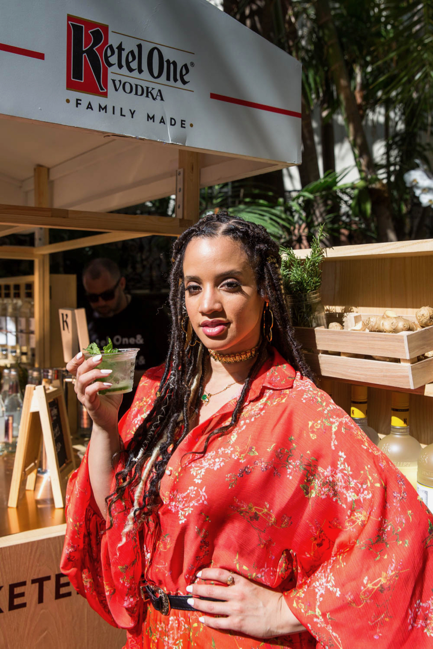- Actress, Dascha Polanco with the Ketel Soda - Cucumber Mint