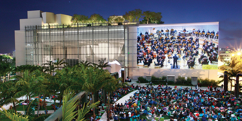 "New World Symphony ""WALLCAST"" in Soundscape Park"