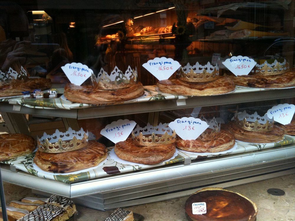 Galettes des Rois are sold in all French bakeries throughout January