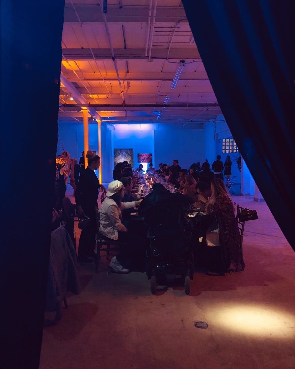 Miami Wynwood Corporate Industrial Warehouse Dinner