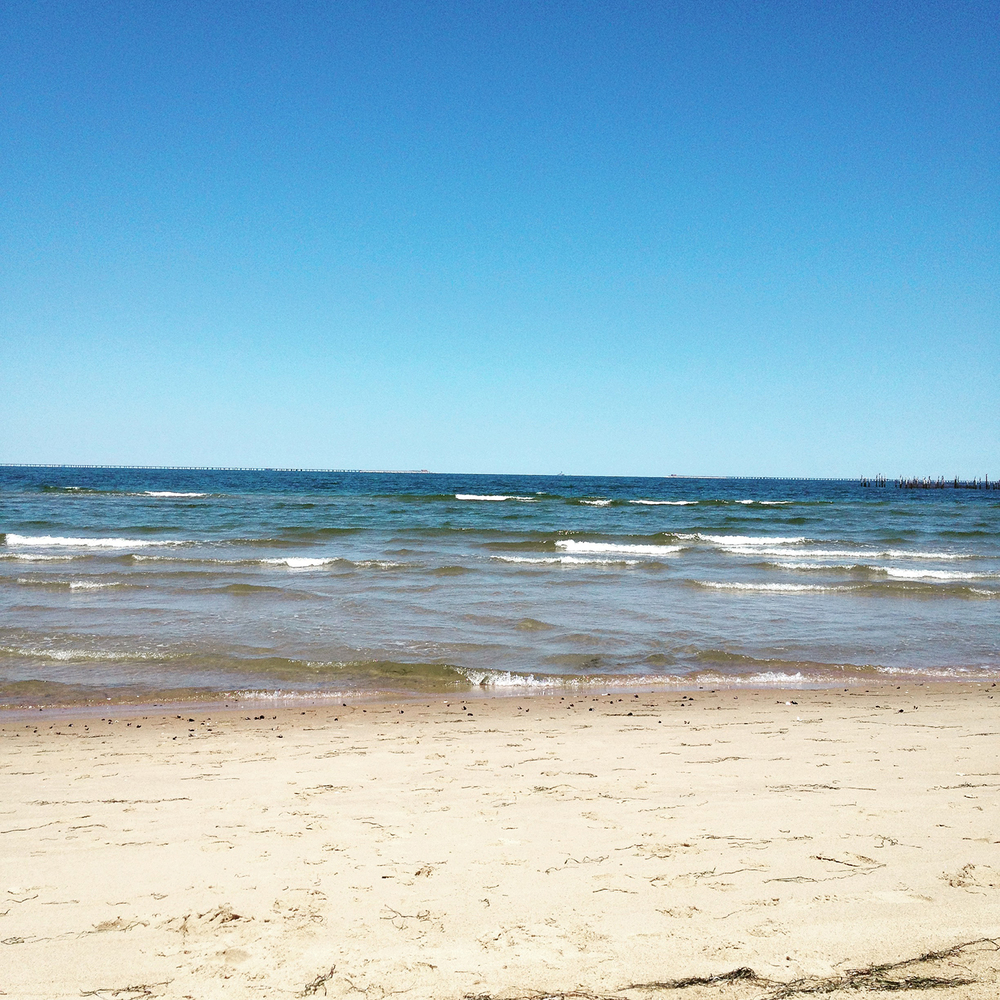 The beach at First Landing State Park is awesome. Located on the Chesapeake Bay, the water isclear andknee-deep for about 100 yards. And the waves are pretty mild compared to the oceanfront. Perfect for kids.