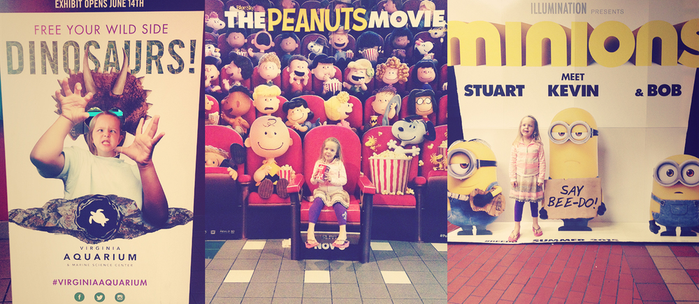 My parents watched Jackson one night and let Chris, Addie and I go to the movies. Addie and I saw the Minions while Chris saw Ant Man. Ours got out before his, so Addie and I had some time to play around. I love the creativity in the execution of these movie posters.
