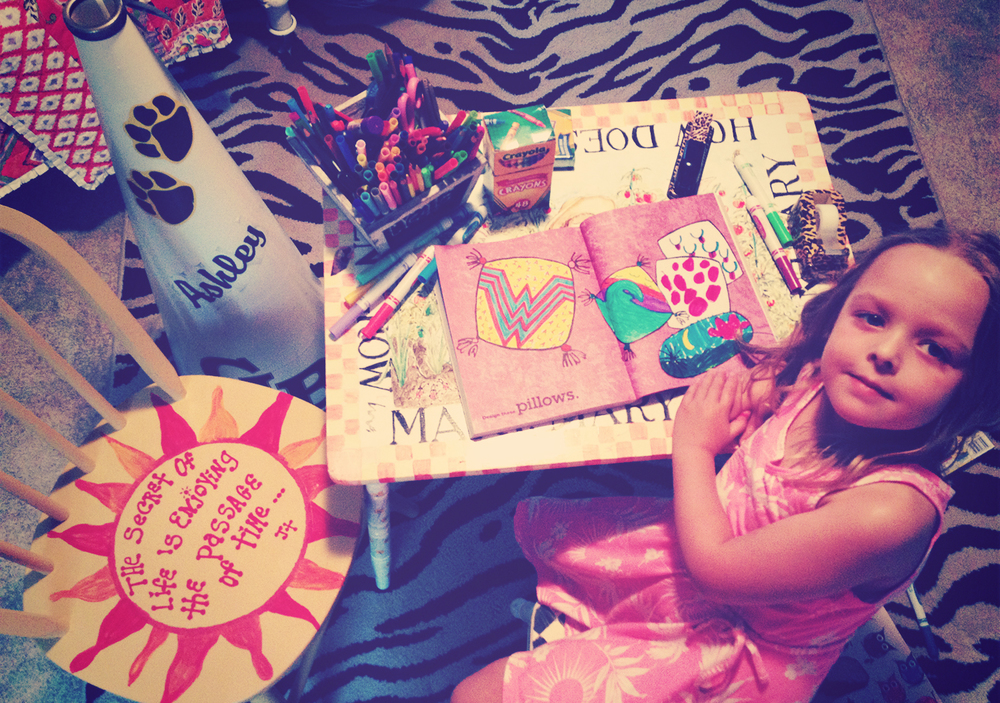 We took some time out this week to work on our marker and crayon skills. Gaga has a great craft room set-up for Addie.