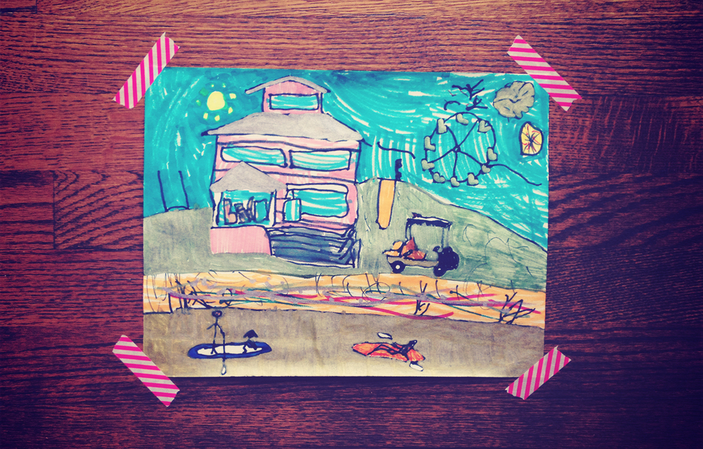 Our weekend was every bit as awesome as Addie's artwork suggests.