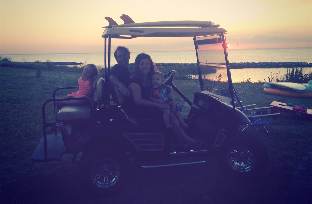 The Graves' family also has this awesome golf cart which they let us borrow for a sunset ride around the neighborhood.
