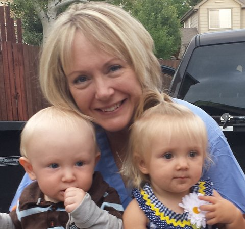 Diana Buckwalter, CNM FNP, with two of her grandchildren.