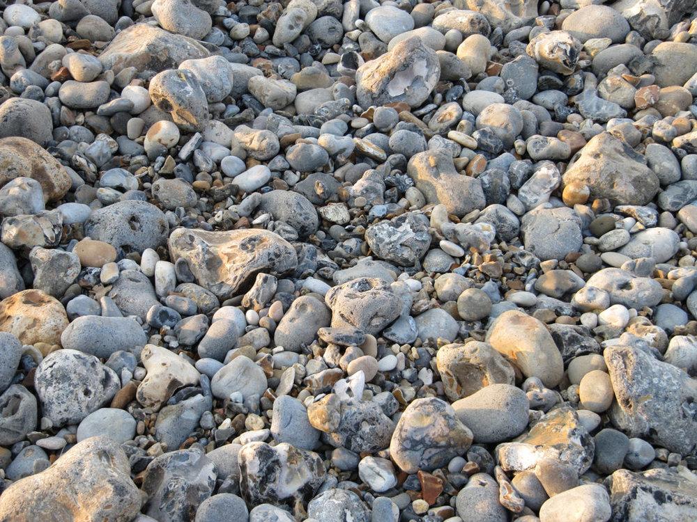 Pebbles on Cromer beach