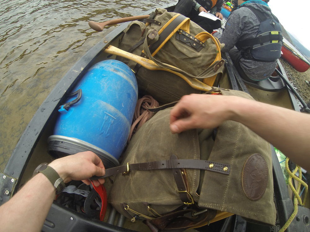We'll look at organising your equipment and packing it into the canoe.