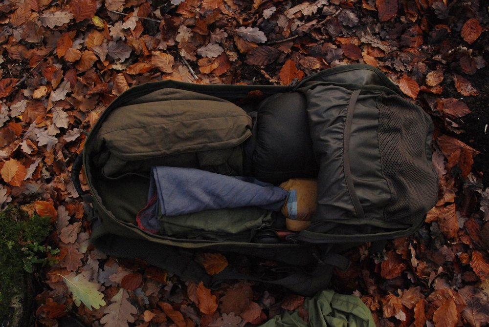 This pack has a two-layer system, so lighter gear goes in the outer section.