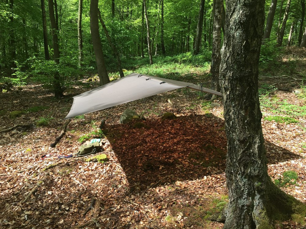As I mentioned in the introduction, I also carry a  super-light tarp  in the rucksack.