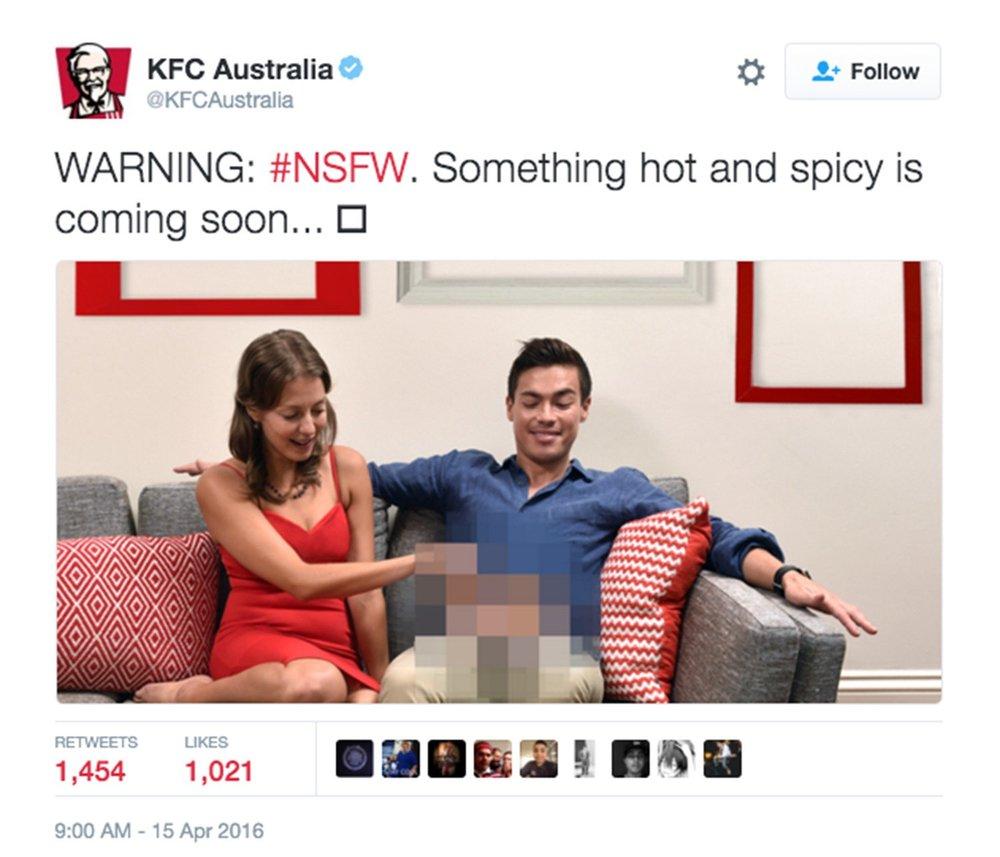 KFC porn tweet