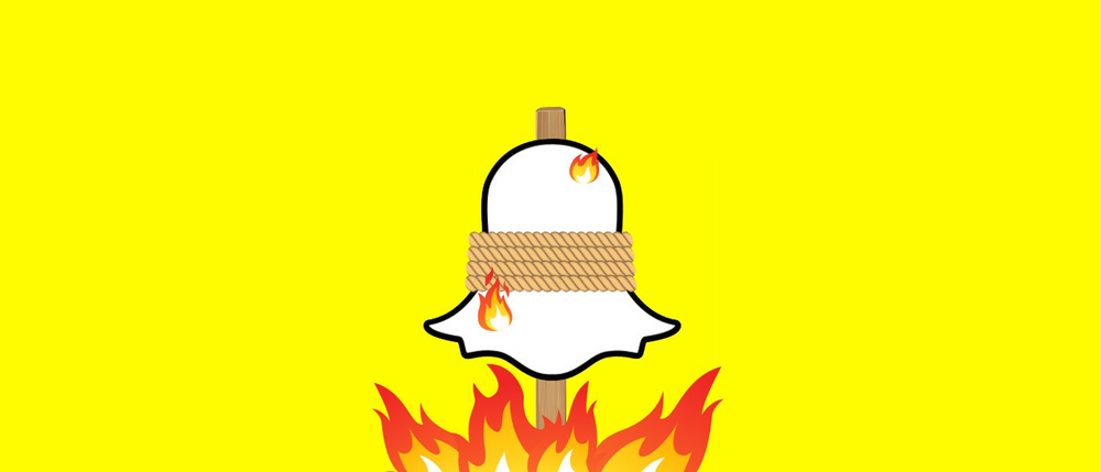 snapchat's ghost on fire