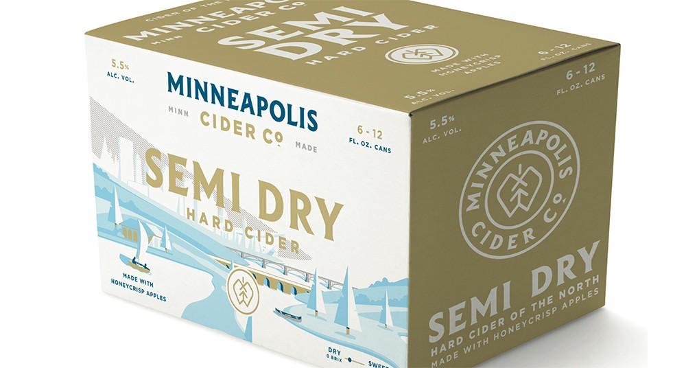 minneapolis cider co hard cider case packaging design