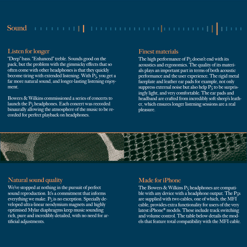 headphone brochure design