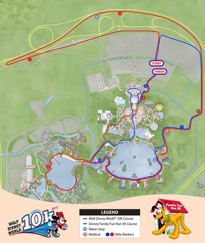 Rundisney Maps Magic Of Running
