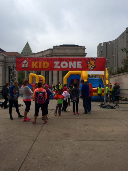 Kid Zone in the finish area