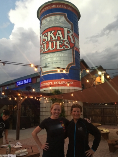 Me and Angie at Oskar Blues!