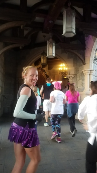 Running through the castle!