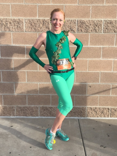Poison Ivy is ready! Love Halloween races!