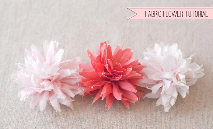Fabric flower tutorial matchbox kitchen mightylinksfo