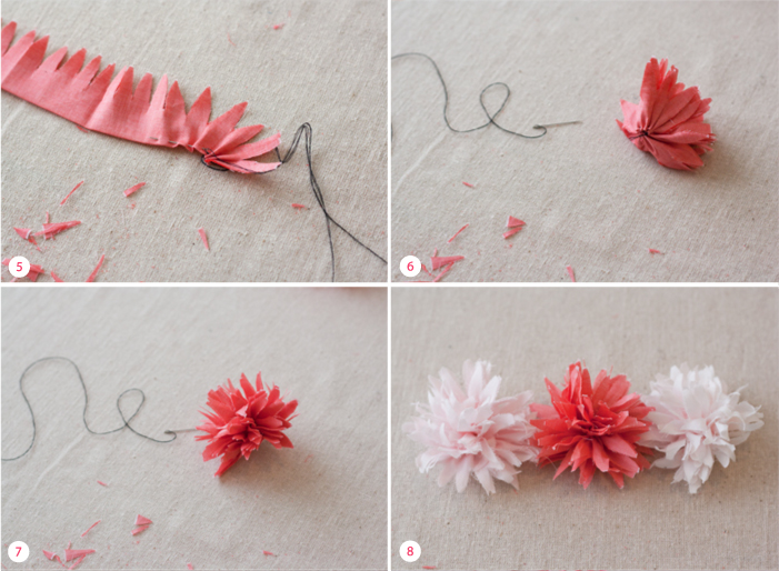 Цветы из материала своими руками