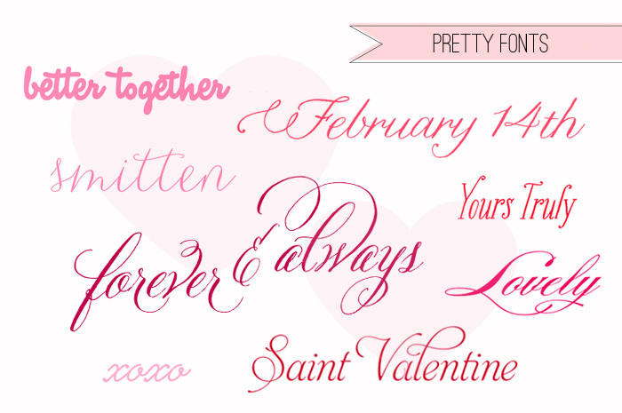 Valentines Pick Pretty Fonts