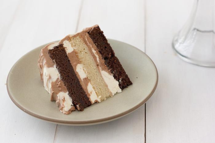 Marvelous Chocolate And Vanilla Swirl Cake