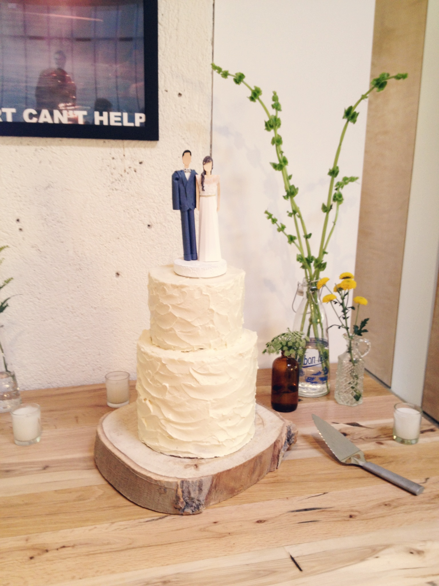 Tawny + Irv Wedding Cake — Matchbox Kitchen