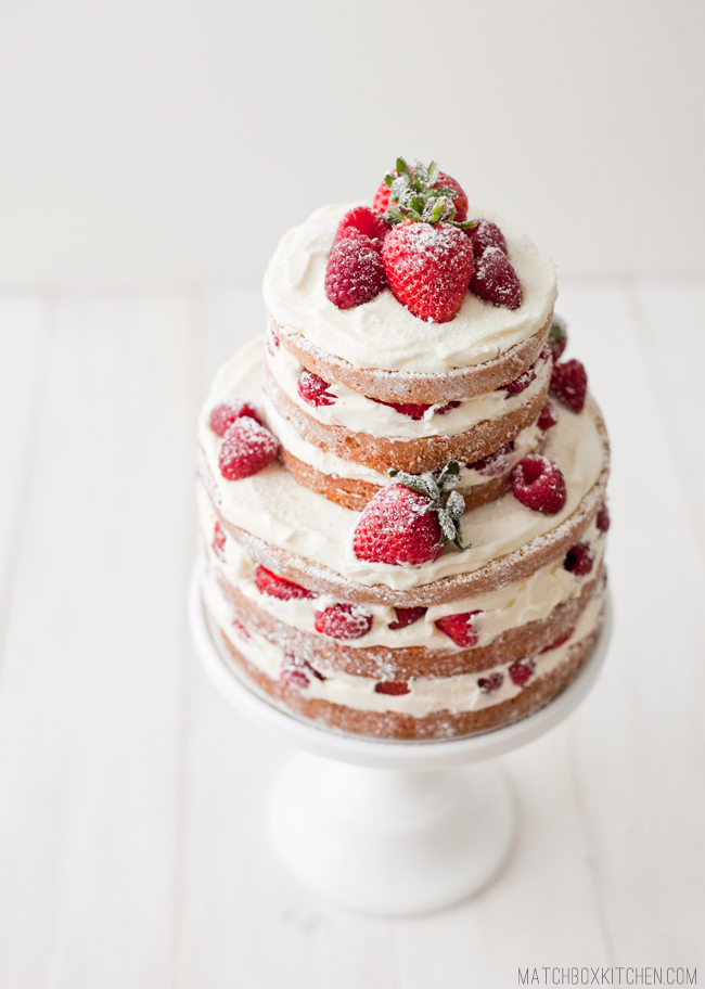Naked Strawberry Rasberry Shortcake, How To Make (almost) Any Cake